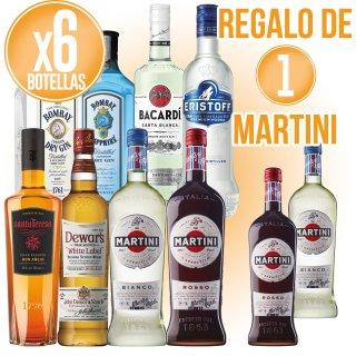 6 BOTELLAS MARTINI SELECCIÓN + 1 DE REGALO