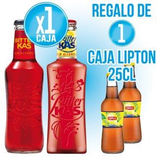 1 CAIXA BITTER KAS SELECCIÓ + REGAL DE 1 CAIXA LIPTON TE FRED LLIMONA 25CL (24U)