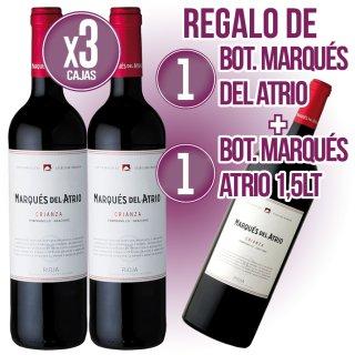 3 Bot Marques Del Atrio Tinto Crianza + 1 De Regal+ Regal De 1 Bot Marques Atrio Magnum