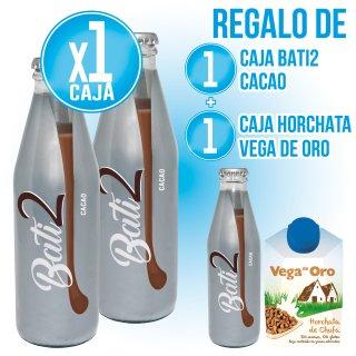 1 CAJA BATI2 CACAO 200ML S/RETORNO (12 U) + REGALO 1 CAJA BATI2 + 1 CAJA HORCHATA VEGA DE ORO 200ML