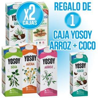 2 CAJAS DE YOSOY A ESCOGER + REGALO DE 1 YOSOY ARROZ CON COCO