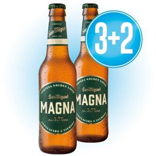 3 CAJAS DE SAN MIGUEL MAGNA 1/3 RET (24 U) + REGALO DE 2 CAJAS SAN MIGUEL MAGNA 1/3 RET (24U)