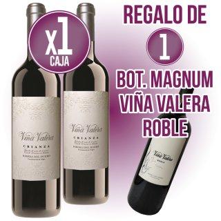 6 AMPOLLES VIÑA VALERA CRIANZA 75CL + REGAL DE 1 AMPOLLA MAGNUM VIÑA VALERA ROBLE 1,5LT