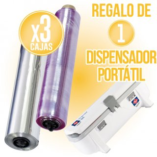 3 CAIXES ALUMINI ALBAL PROFESSIONAL 30X200+FILM PVC 30X300 + REGAL 1 DISPENSADOR SEMIAUTOM. PORTÀTIL