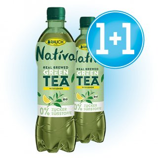 1 Caja Nativa Green Tea Lemon Bio 0% Azúcar 50cl Pet + 1 De Regalo