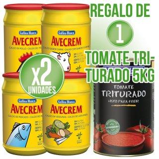 2 Pots Avecrem Sabors 1kg + Regal De 1 Llauna Tomaquet Triturat Gb 5kg