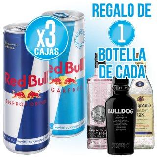 3 Caixes Red Bull O Sugar Free + Regal De 1 Bot Licors Selecció