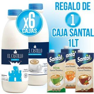 6 Caixes Llet Castillo 1,5lt Sencera O Host + Regal De 1 Caixa Santal A Escollir