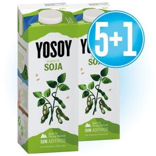 5 Brik Yosoy 1lt Soja + 1 De Regal