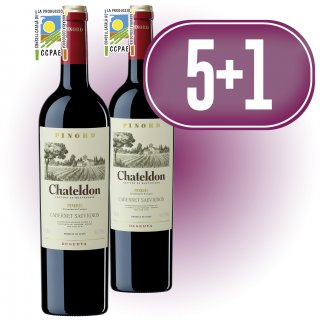 5 BOTELLAS CHATELDON RESERVA + 1 BOTELLA DE REGALO