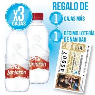 3 CAIXES LANJARÓN 33CL (42U) + 2 DE REGAL + REGAL DE 1 DÈCIM DE NADAL