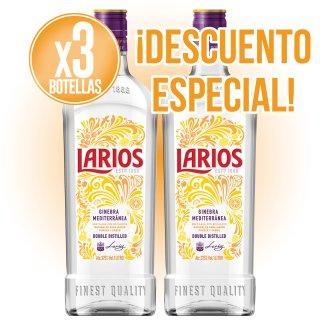 3 BOTELLAS GIN LARIOS LONDON DRY 1LT + DESCUENTO ESPECIAL