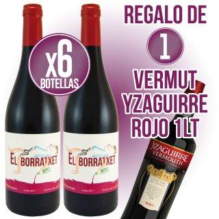 6 BOTELLAS EL BORRATXET REGALO DE 1 BOTELLA VERMUT YZAGUIRRE ROJO CLÁSICO 1LT