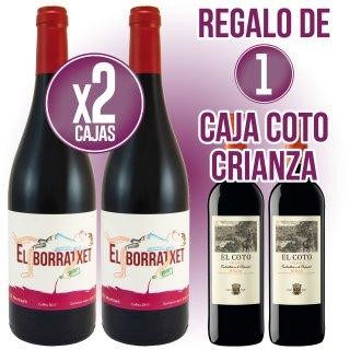 2 CAJAS EL BORRATXET 75CL REGALO DE 1 CAJA COTO CRIANZA 75CL