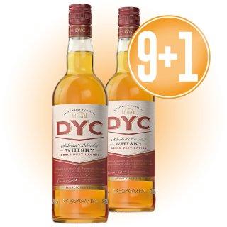 9 BOTELLAS WHISKY DYC 5 AÑOS 70CL + 1 DE REGALO