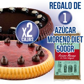 2 CAJAS PASTELES PASTICAKE REGALO DE 1 PAQUETE AZÚCAR MORENO DIET RADISSON 500GR