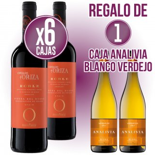 6 CAIXES CONDADO ORIZA ROBLE 75CL REGAL 1 CAIXA ANALIVIA BLANC VERDEJO 75CL