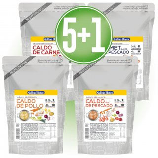5 UNITATS CALDOS DOY PACK 1/2LT + 1 DE REGAL