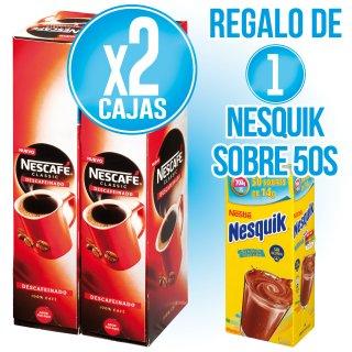 2 NESCAFE SOBRES 100S + REGAL DE 1 NESQUIK SOBRES 50S