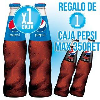 1 CAIXA PEPSI REGULAR 350 RET (247 U) + REGAL DE 1 PEPSI MAX 350 RET (24U)