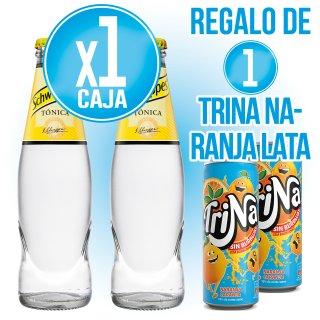 1 CAIXA TONICA SCHWEPPES 20CL RET (34U) + REGAL DE 1 CAIXA TRINA TARONJA LLAUNA (24U)