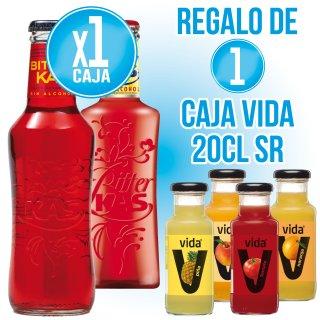 1 CAIXA BITTER 20CL (24U) + REGAL DE 1 CAIXA VIDA 20CL SABORS (24U)