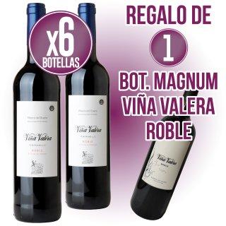 6 BOTELLES VIÑA VALERA ROURE + REGAL DE 1 VIÑA VALERA MAGNUM