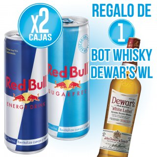 MODULO 2 RED BULL + 1 BOT WHISKY WHITE LABEL