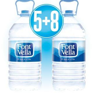5 CAJAS FONT VELLA 6.25 (3 U) + 8 DE REGALO
