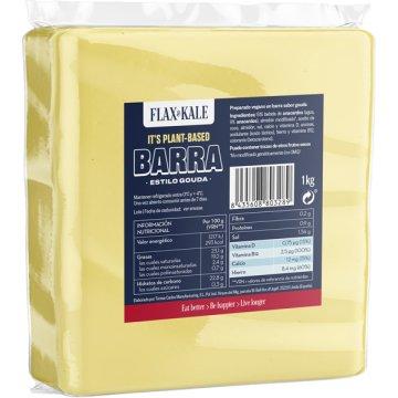Queso Vegano Barra Gouda Flax&kale 1kg
