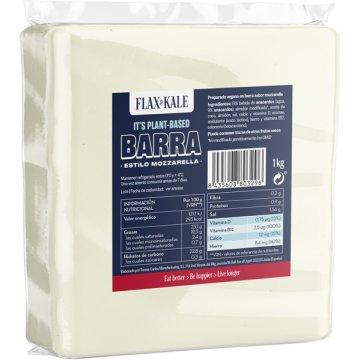 Queso Vegano Barra Mozzarella Flax&kale 1kg