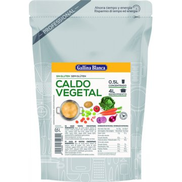 Caldo Vegetal Conc Gallina Blanca 1/2lt Doy-pack