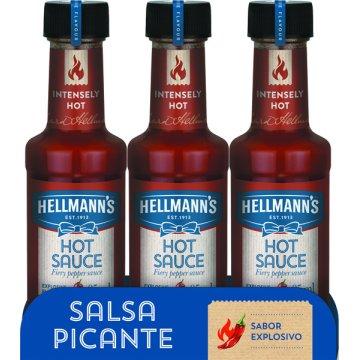 Salsa Picante Hellmann's 95ml Pack-3