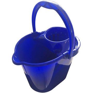 Cubo Rectangular 14lt C/escurridor Azul Cisne