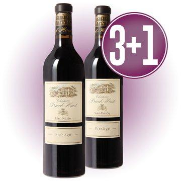 3 Botellas Chateau Puech Haut Rouge Prestige + 1 De Regalo