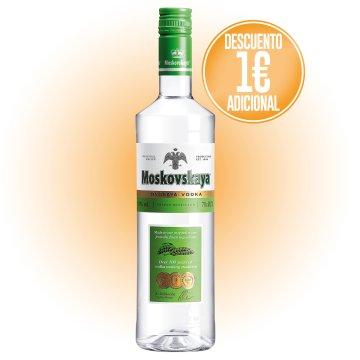 1 Botella Vodka Moskovskaya 70cl + Regalo De 1 Euro Dto