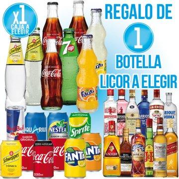 1 CAIXA DE REFRESC A ESCOLLIR + REGAL DE 1 BOTELLA LICOR A ESCOLLIR