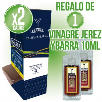 2 CAIXES OLI VERGE EXTRA YBARRA 10ML (150u) + REGAL DE VINAGRE JEREZ 10ML (200U)