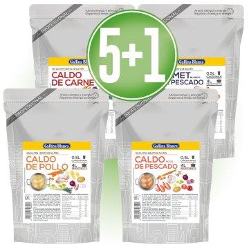 5 UNITATS CALDOS DOY PACK 1/2LT + 1 DE REGAL