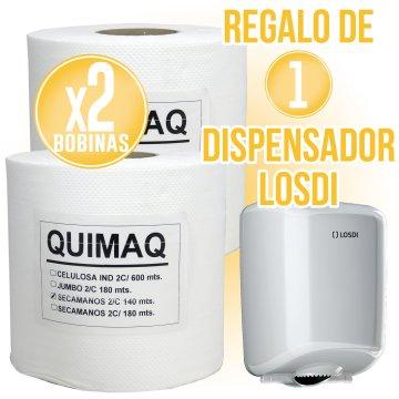 2 BOBINES ASSECAMANS QUIMAQ + REGAL DE 1 DISPENSADOR LOSDI