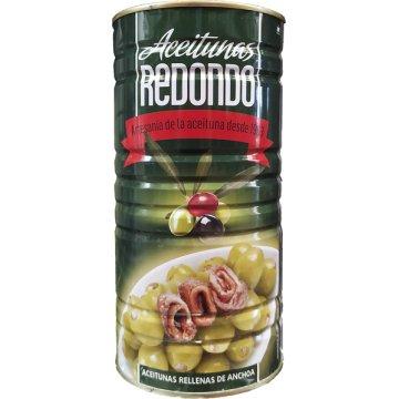 Aceitunas Rellena Anchoa Lata 600 Gr Redondo