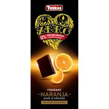 Chocolate Zero Negro C/naranja S/a Torras 125g