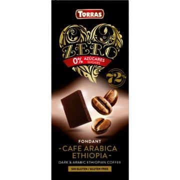 Chocolate Zero Neg 72% Cafe Arabica Torras 100g