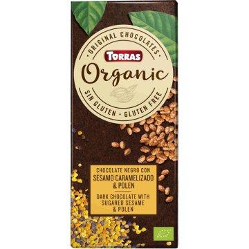 Chocolate Negro Sesamo Tost-polen Torras 100g