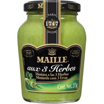 Mostaza Tres Hierbas Verdes 215 Gr Maille