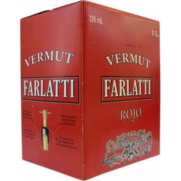 Vermouth Farlatti Rojo Box 5lt