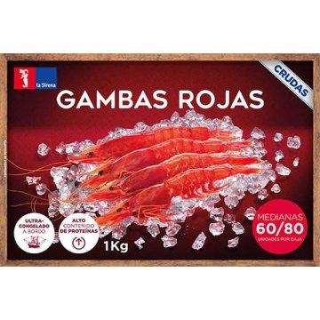 Gamba Roja Mediana 60/80 Pzas Caja 1kg
