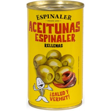 Aceitunas Rellenas Anchoa 350gr Espinaler