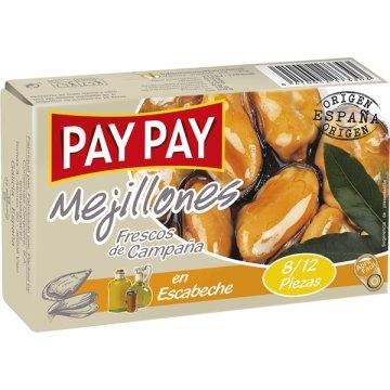 Mejillones Pay-pay Escabeche 8-12 120gr