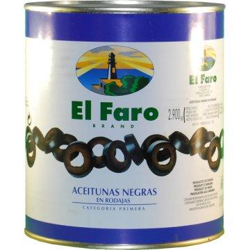 Aceitunas Negras Rodajas Faro 3100ml